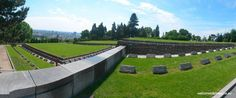 Slavin is a memorial monument and military cemetery of almost 7 000 Soviet soldiers who fell during the World War II while liberating the city in April 1945 Military Cemetery, Bratislava, Golf Courses, Sidewalk, Memories, City, World, Memoirs, Souvenirs