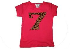 Leopard Cheetah Print 7th Birthday Short Sleeve Shirt:Amazon:Clothing Cheetah Birthday, Amazon Clothes, 7th Birthday, Fashion Books, Cheetah Print, Tees, Shirts, Parties, Sleeve