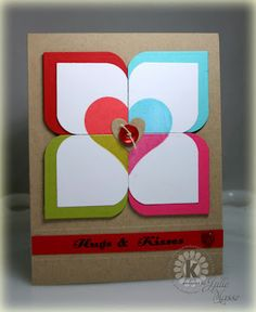Love this clever idea for using a corner rounder and stamping. This this could be reproducible