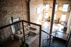 Creative Loft in Downtown with Exposed Brick, Los Angeles, CA Furniture Deals, Cheap Furniture, Furniture Movers, Furniture Stores, Discount Furniture, Arched Windows, Large Windows, Loft Spaces, Small Spaces