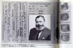 Hemingway & Chalk stripes (suit) of a fighting reporter  Dress Fashion / Hemingway Style  ヘミングウェイの愛用品/ファッション・ドレス篇 〜戦う記者のチョークストライプ(スーツ)〜