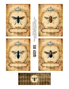 Free Printable :: Queen Bee Cards