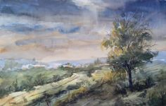 Ángel Gutiérrez. Paisaje   Watercolor on paper