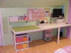 Lovely big white desk!