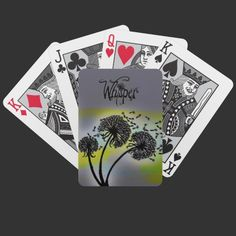Dandelion Glow Whisper Art Playing Cards