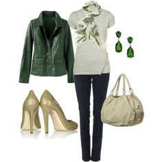 """green"" by azulabril on Polyvore"