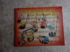 1935 Vintage Song Book  Fifty Favorite by PrettyLittlePickers