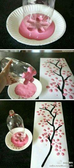 Imagem de diy, pink, and tree