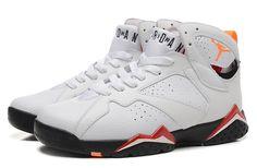 Nike Air Jordan 7 Retro White Red Men Shoes