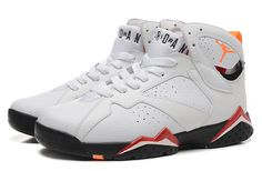 Nike Air Jordan 7 Retro White Red Men Shoes