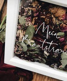 Rahmen Blumenstrauß personalisiert, Aufbewahrung Hochzeitsstrauß – MoonlightCrafts