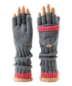 Shiraleah Gray Ina Convertible Fingerless Gloves   zulily