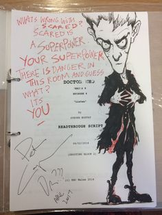 Script and drawing donated by Peter for charity auction.