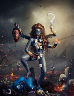 Dies of Overwhelming Pride. CONDEMNED to an eternity of sufferage for no reason. Kali Shiva, Kali Mata, Shiva Shakti, Kali Goddess, Indian Goddess, Mother Goddess, Mother Kali, Divine Mother, Indiana