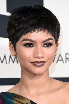 Zendaya Coleman brought it with her bold brows, lengthy lashes, and matte brown lipstick for her ever-changing red carpet looks.