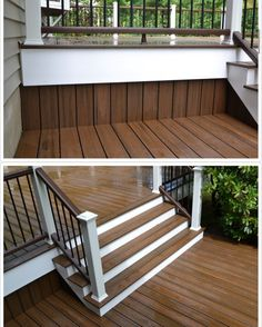 """231 Likes, 18 Comments - Morris Decks (@morrisdecks) on Instagram: """"I loved this detail we did on this job to tie the two levels of this deck together. @trexcompany…"""""""