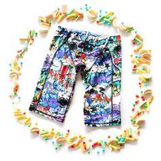 Switch Sportswear- Graffiti swimwear! Chlorine Resistant athletic swimwear for boys