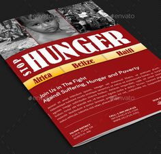 Stop Hunger Charity Brochure Template | GraphicsTank