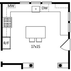 kitchen layout; bigger island; add walk-in pantry, switch stove and sink