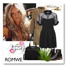 """Romwe 7"" by aida-1999 ❤ liked on Polyvore featuring Beautiful People, Furla, women's clothing, women's fashion, women, female, woman, misses and juniors"