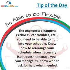 #TipOfTheDay  Via MSMBAinUSA