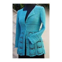 BLUE CROCHET CARDIGAN from SOPHIE AND ME | Check out patterns on   Cute!