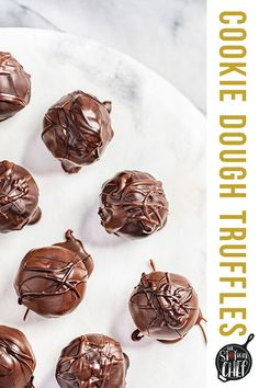 Cookie Dough Truffles are the most delicious way to indulge in small portions. Homemade cookie dough is dipped in melted chocolate chips and left to harden into a chocolate shell. You'll keep coming back for more of this single-bite dessert! #cookiedoughtruffle Amazing Chocolate Cake Recipe, Best Chocolate Cake, Chocolate Desserts, Homemade Cookie Dough, Cookie Dough Truffles, Melting Chocolate Chips, Melted Chocolate, Cheesecake Recipes, Dessert Recipes