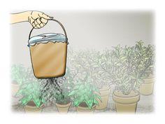 Dicas de jardinagem - faça o seu próprio espalhador de adubo: uma lata grande com uma porção de furos no fundo. Tampe com plástico, bem amarrado, e sacuda a lata em cima das plantas.