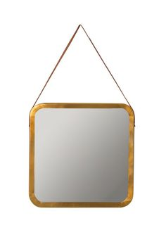 Like an industrial-chic compact for your wall.Threshold Metal Mirror with Leather Trim, $49.99, available at Target. #refinery29 http://www.refinery29.com/2016/09/121503/new-target-fall-home-collection#slide-1