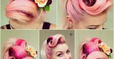 How to Create Rockabilly Hair | If you'd like to learn how I do my victory rolls please visit our …