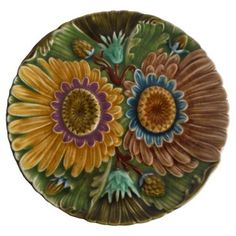 Check out this item at One Kings Lane! Majolica Fall Floral Wall Plate