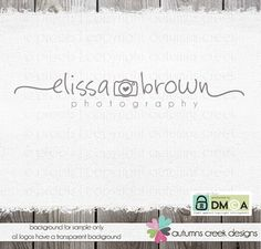 logo design photography logo premade logo by autumnscreek on Etsy