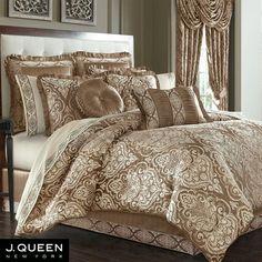 Stafford Medallion Comforter Bedding by J Queen New York