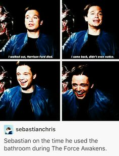 Sebastian Stan. I can't decide if he's dead to me or I'm dieing