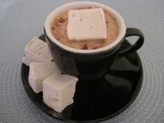 Homemade Coffee Marshmallows, excellent recipe. For best flavor brew 3/4 coffee grounds to 1 cup water* OR you can use plain water and a few splashes of artificial coffee flavoring, esp. if you cannot or would rather not have caffeine)        *Do not do this if you have only a single cup brewer to work with. In that case, brew in a saucepan. (Incidentally, RIP my single cup brewer :/)
