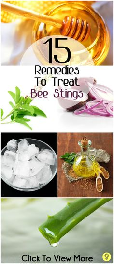 15 Simple Home Remedies To Treat Bee Stings. The yellow jackets have an attitude this time of year, and a family member was stung today. We used the ACV, and it's definitely relieving the pain and swelling.