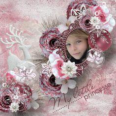 """Page réalisée avec le nouveau kit d'Angel's Designs """"Rose Winter"""" (RAK Caroline) et WA de Lilas : http://scrapbookbytes.com/store/manufacturers.php?manufacturerid=252"""