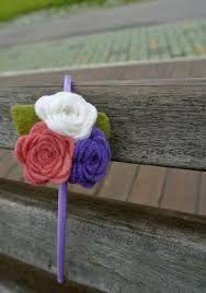 41500993a Imagen relacionada Felt Headband, Rose Headband, Flower Headbands, Handmade  Headbands, Handmade Felt
