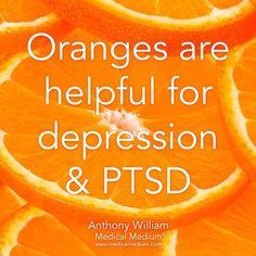 Oranges are helpful for depression & PTSD