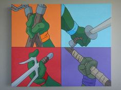 TMNT Pop Art 20x24 Acrylics on canvas by ~Nixonstellar on deviantART