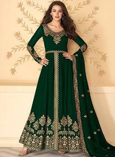 Emerald Green and Gold Pant Style Anarkali– Lashkaraa Anarkali Tops, Silk Anarkali Suits, Anarkali Dress, Lehenga, Salwar Suits, Choli Dress, Punjabi Suits, Pakistani Dresses, Shalwar Kameez