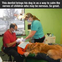 I need a dentist like this.