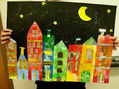 beautiful painted paper city