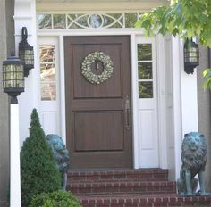 What I want for the front door (minus the lions.)