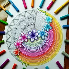 What an ornate and detailed two-faced mandala! Which side do you prefer? 🤔Designed with STABILO point 88 and Pen 68 you can… Flower Art Drawing, Doodle Art Drawing, Zentangle Drawings, Mandala Drawing, Cool Art Drawings, Zentangles, Flower Drawings, Zen Doodle, Simple Doodle Art