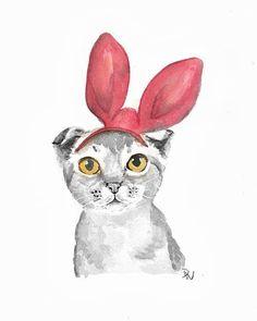 Kitty with bunny ears