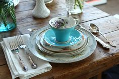 Plate: Vintage Crockery Rental & Rescue | Gallery | Rent Mismatched China for Wedding Tablescapes