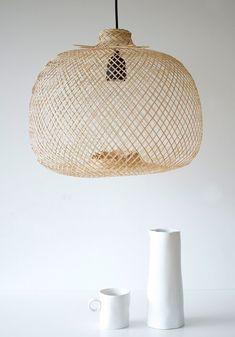 Bloomingville Pendant Lamp - Galaxus Design Shop, House Design, Rattan Pendant Light, Pendant Lamp, Interior Lighting, Lighting Design, Bamboo Lamp, Large Desk, Luminaire Design
