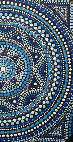 Mandala em pontilhismo Pontos em Cores by Thincia  www.facebook.com/Pontos.em.Cores/ Dot Art Painting, Pebble Painting, Stone Painting, Mandalas Painting, Mandalas Drawing, Mandala Pattern, Mandala Design, Mandala Canvas, Mandala Rocks