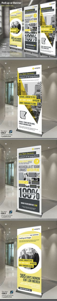 Corporate Roll-up Banners Template InDesign INDD. Download here: http://graphicriver.net/item/corporate-rollup-vol5/14788376?ref=ksioks